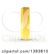 Clipart Of A 3d Golden Capital Letter I On A Shaded White Background With Clipping Path Royalty Free Illustration by stockillustrations