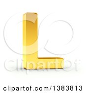 Clipart Of A 3d Golden Capital Letter L On A Shaded White Background With Clipping Path Royalty Free Illustration by stockillustrations
