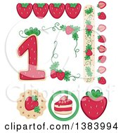Strawberry Themed Birthday Party Design Elements