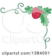 Corner Border Of A Strawberry And A Vine