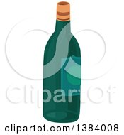 Clipart Of A Wine Bottle Royalty Free Vector Illustration