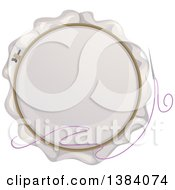 Clipart Of A Needle And Embroidery Hoop Royalty Free Vector Illustration