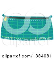 Clipart Of A Patterned Sewn Pouch Royalty Free Vector Illustration