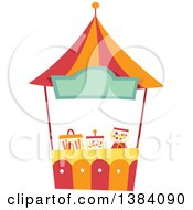 Clipart Of A Festival Carnival Booth Stand Royalty Free Vector Illustration