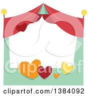 Clipart Of A Festival Carnival Booth Stand Royalty Free Vector Illustration by BNP Design Studio