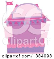 Clipart Of A Pink And Purple Carnival Or Festival Booth Royalty Free Vector Illustration by BNP Design Studio