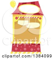Clipart Of A Red And Yellow Carnival Or Festival Booth Royalty Free Vector Illustration by BNP Design Studio
