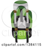 Clipart Of A Camping Or Recreational Backpack Royalty Free Vector Illustration
