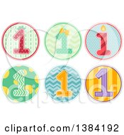 First Birthday Badges With Number 1 Designs And Patterns