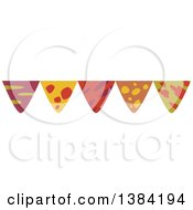 Clipart Of A Dinosaur Themed Party Bunting Banner Royalty Free Vector Illustration