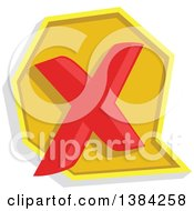 Clipart Of A Declined Or Rejected X Icon Royalty Free Vector Illustration