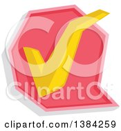 Clipart Of A Check Mark Approved Icon Royalty Free Vector Illustration by BNP Design Studio