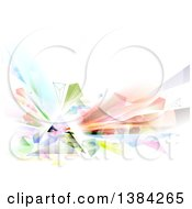 Geometric Colorful Abstract Prism Background