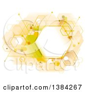 Clipart Of An Abstract Geometric Hexagon Beehive Background Royalty Free Vector Illustration by BNP Design Studio