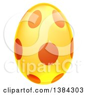 Clipart Of A 3d Golden Easter Egg With Dots Royalty Free Vector Illustration