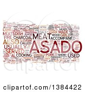Clipart Of A Grill Party Asado Tag Word Collage On White Royalty Free Illustration
