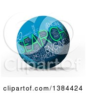 3d Blue White And Green Seo Tag Word Collage Sphere On White