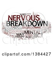 Clipart Of A Brown Black And Gray Nervous Breakdown Tag Word Collage On White Royalty Free Illustration