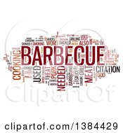 Clipart Of A Barbecue Tag Word Collage On White Royalty Free Illustration