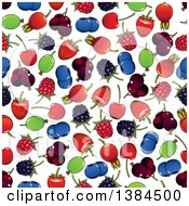 Clipart Of A Seamless Background Pattern Of Berries Royalty Free Vector Illustration by Vector Tradition SM
