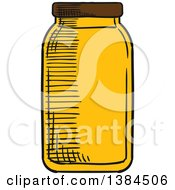 Clipart Of A Sketched Honey Jar Royalty Free Vector Illustration by Vector Tradition SM