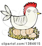 Cartoon Hen Chicken Nesting