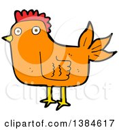 Clipart Of A Cartoon Hen Chicken Royalty Free Vector Illustration by lineartestpilot