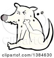 Cartoon Dog Scratching