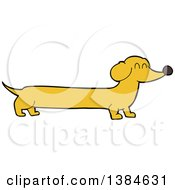 Clipart Of A Cartoon Dachshund Dog Royalty Free Vector Illustration by lineartestpilot