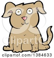 Clipart Of A Cartoon Dog Royalty Free Vector Illustration by lineartestpilot