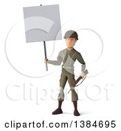 Clipart Of A 3d Low Poly Geometric Caucasian Male Army Soldier On A White Background Royalty Free Illustration by Julos