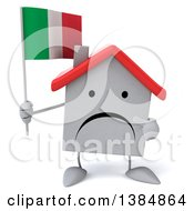 Clipart Of A 3d White Home Character On A White Background Royalty Free Illustration