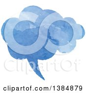 Clipart Of A Watercolor Painted Speech Bubble Royalty Free Vector Illustration