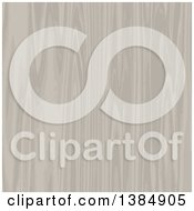 Clipart Of A Background Of Pale Wood Royalty Free Vector Illustration