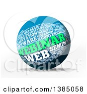 Clipart Of A 3d Webinar Word Tag Collage Sphere On A White Background Royalty Free Illustration