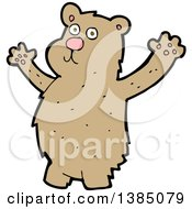 Clipart Of A Cartoon Brown Bear Royalty Free Vector Illustration by lineartestpilot