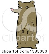 Clipart Of A Cartoon Brown Bear Royalty Free Vector Illustration