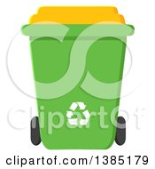 Clipart Of A Cartoon Green Recycle Bin With White Arrows Royalty Free Vector Illustration by Hit Toon