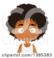 Clipart Of A Black Boy With A Long Hairstyle Royalty Free Vector Illustration