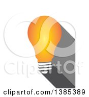 Clipart Of A Yellow Light Bulb On White Royalty Free Illustration