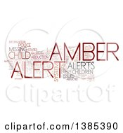 Clipart Of An Amber Alert Tag Word Collage On White Royalty Free Illustration