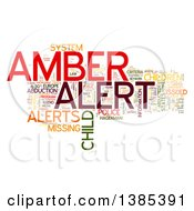 Clipart Of A Colorful Amber Alert Tag Word Collage On White Royalty Free Illustration