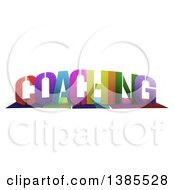 Colorful Word COACHING With Shadows On White