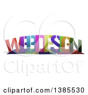 Colorful Word WEB DESIGN With Shadows On White