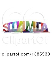Clipart Of Colorful Words SOCIAL MEDIA With Shadows On White Royalty Free Illustration by MacX