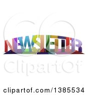 Clipart Of A Colorful Word NEWSLETTER With Shadows On White Royalty Free Illustration