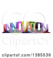 Clipart Of A Colorful Word INNOVATION With Shadows On White Royalty Free Illustration