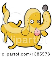 Clipart Of A Cartoon Dachshund Dog Royalty Free Vector Illustration
