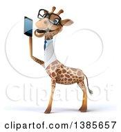 Poster, Art Print Of 3d Doctor Giraffe On A White Background