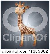 Poster, Art Print Of 3d Giraffe Over Rays
